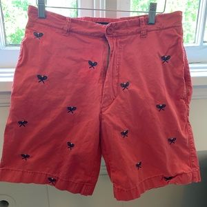 J Crew chino embroidered tennis racket shorts